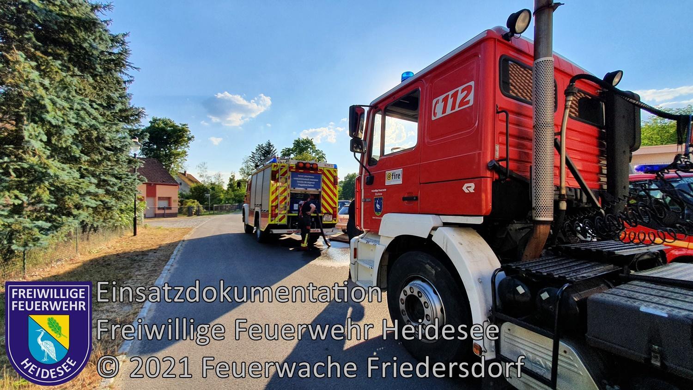 Einsatz 69/2021 | 5 Brandstellen ca. 400m² Waldbodenbrand | L39 OV Kolberg - Prieros | 26.06.2021