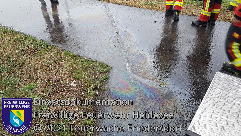 Einsatz 36/2021 | Ölspur nach Kradunfall | L40 OV Friedersdorf - Wolzig | 10.04.2021