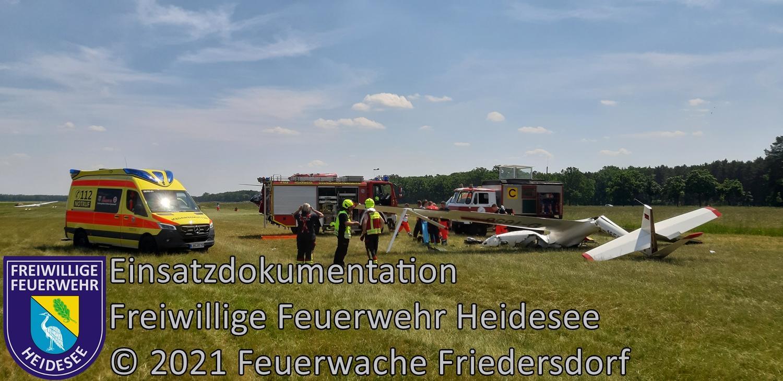 Einsatz 58/2021 | Segelflieger abgestürzt | Friedersdorf Wolziger Chaussee | 05.06.2021