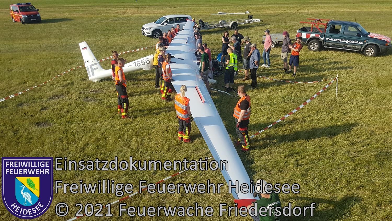 Einsatz 59/2021 | Bergung Segelflieger | Friedersdorf Wolziger Chaussee | 05.06.2021