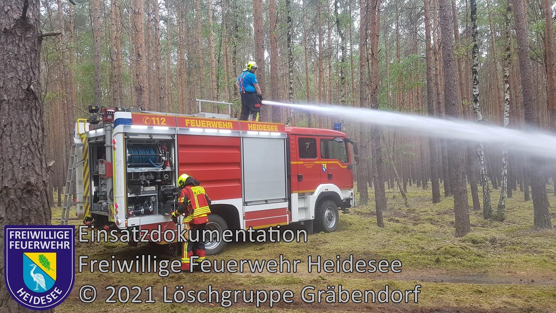 Einsatz 67/2021 | 500m² Waldbodenbrand | Prieros Alte Ziegelei Abt. 174 | 23.06.2021