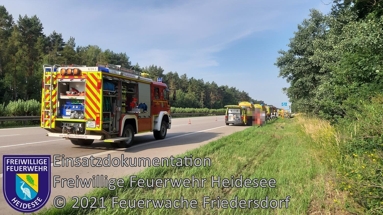 Einsatz 76/2021 | PKW überschlagen | BAB 10 AD Spreeau - AS Niederlehme | 11.07.2021