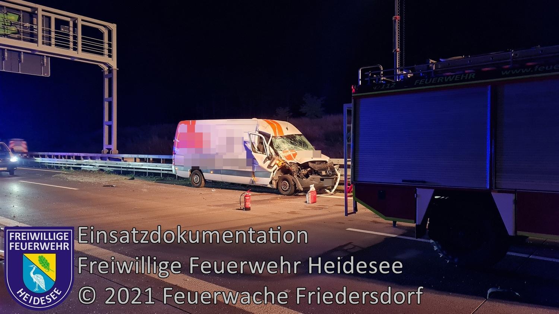 Einsatz 115/2021 | VU Transporter auf LKW | BAB 12 AS Friedersdorf - AD Spreeau | 02.09.2021