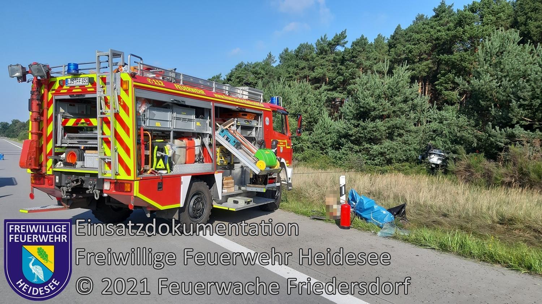Einsatz 116/2021 | PKW überschlagen | BAB 10 AD Spreeau - AS Niederlehme | 03.09.2021