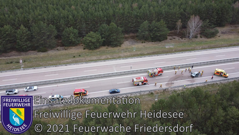 Einsatz 42/2021 | PKW in Leitplanke | BAB 12 AS Friedersdorf - AS Storkow | 25.04.2021