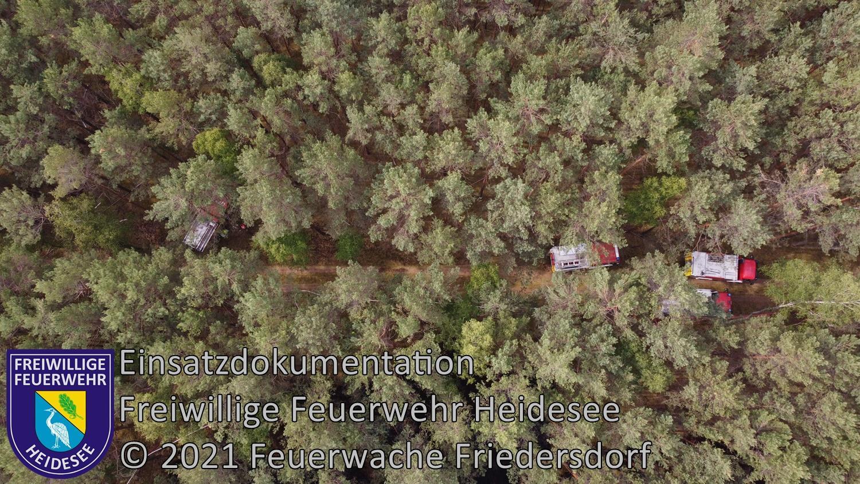 Einsatz 63/2021 | 1ha Waldbodenbrand | Prieros Alte Ziegelei Abt. 174 | 15.06.2021