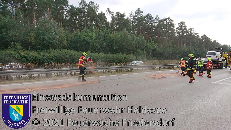 Einsatz 110/2021 | 20m Ölspur | BAB 10 AD Spreeau - AS Niederlehme | 22.08.2021