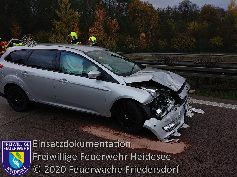Einsatz 145/2020 | VU PKW - PKW | BAB 10 AD Spreeau - AS Niederlehme | 16.11.2020