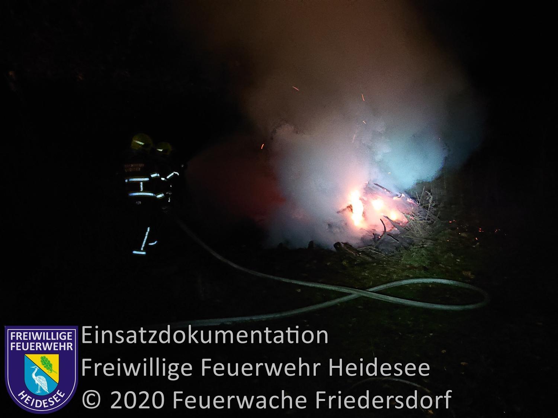 Einsatz 147/2020 | Brennendes Lagerfeuer | Dolgenbrodt Blossiner Straße | 19.11.2020