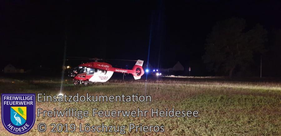Einsatz 161/2019 | Absicherung Hubschrauberlandung | Streganz Streganz-Pechhütte Waldcorso | 05.11.2019