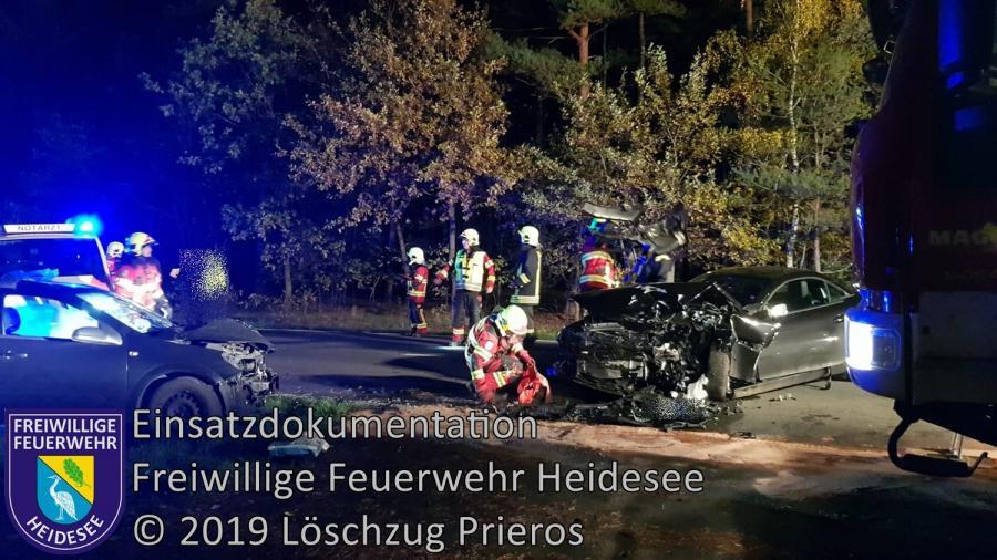 Einsatz 162/2019 | VU PKW - PKW | B 246 OV Gräbendorf - Bestensee | 07.11.2019