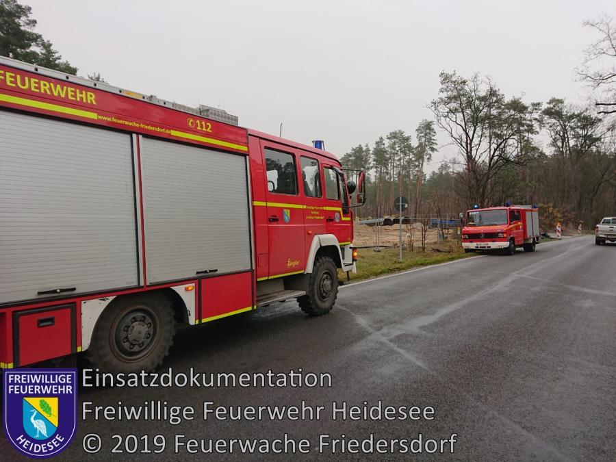 Einsatz 167/2019 | 1000m lange Dieselspur | L 40 OV Friedersdorf - Bindow | 20.11.2019