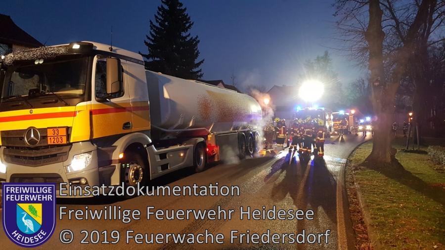 Einsatz 172/2019 | Brennender LKW | B 246 Ortslage Gräbendorf | 10.12.2019