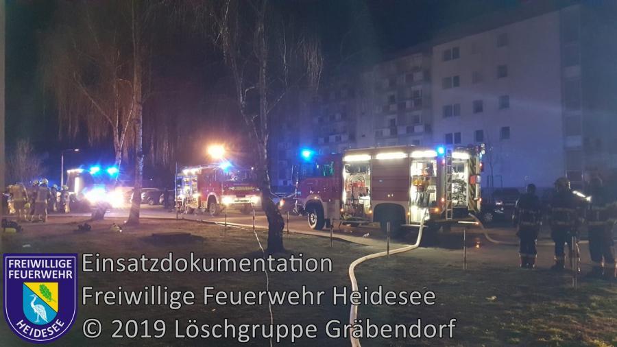 Einsatz 175/2019 | Wohnungsbrand | Bestensee Friedenstraße | 29.12.2019