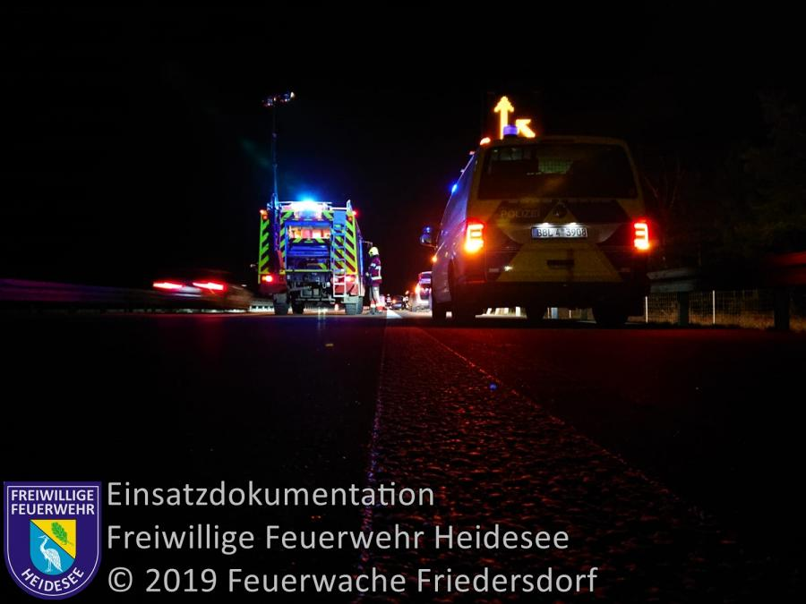 Einsatz 176/2019 | VU 2x PKW | BAB 12 AS Friedersdorf - AS Storkow | 29.12.2019