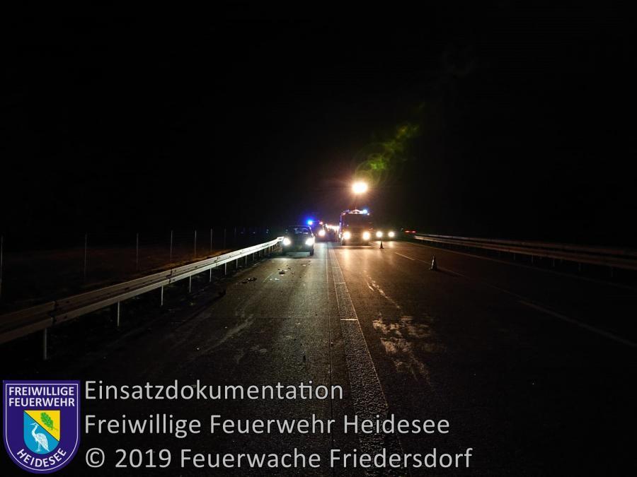 Einsatz 176/2019   VU 2x PKW   BAB 12 AS Friedersdorf - AS Storkow   29.12.2019
