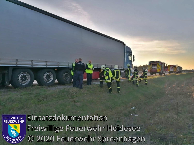 Einsatz 151/2020 | Heißgelaufende Bremse | BAB 12 AS Storkow - AS Friedersdorf | 24.11.2020