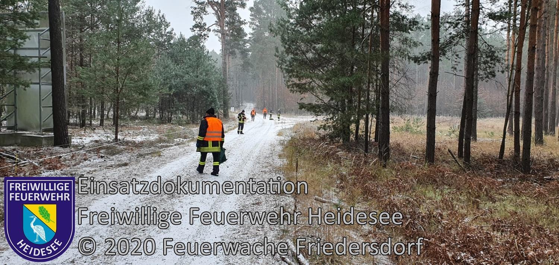 Einsatz 154/2020 | Fallwildsuche in der Lieberoser Heide |  Lieberose | 03.12.2020