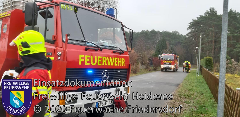 Einsatz 156/2020 | Ölflecken auf Straße | Friedersdorf Birkenaue | 09.12.2020