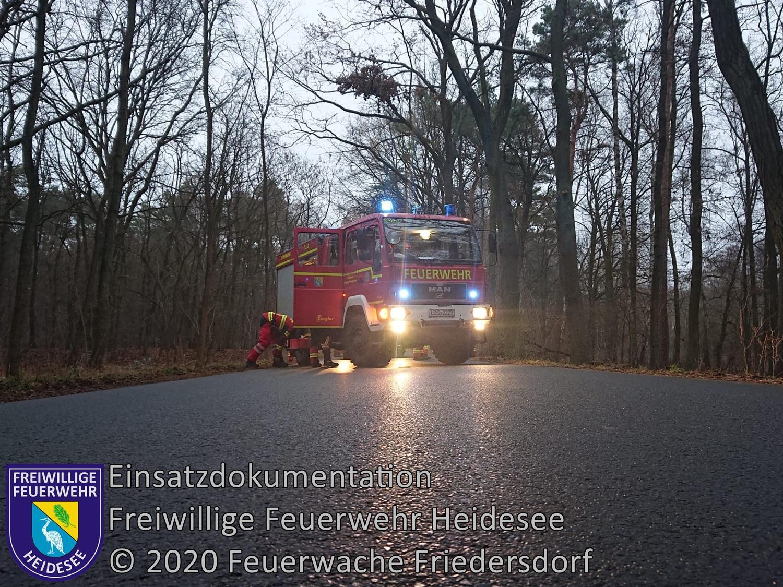 Einsatz 157/2020 | Ast droht zu stürzen | L 39 OV Blossin - Friedersdorf | 16.12.2020