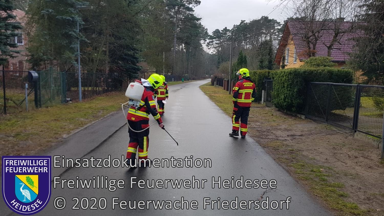 Einsatz 161/2020 | 1500 m lange Ölspur | Bindow Hirschsprung | 29.12.2020