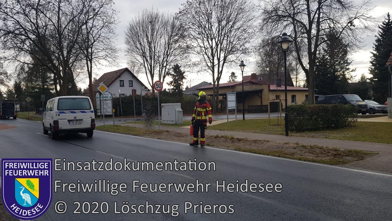 Einsatz 162/2020 | längere Dieselspur | Prieros Storkower Allee | 31.12.2020