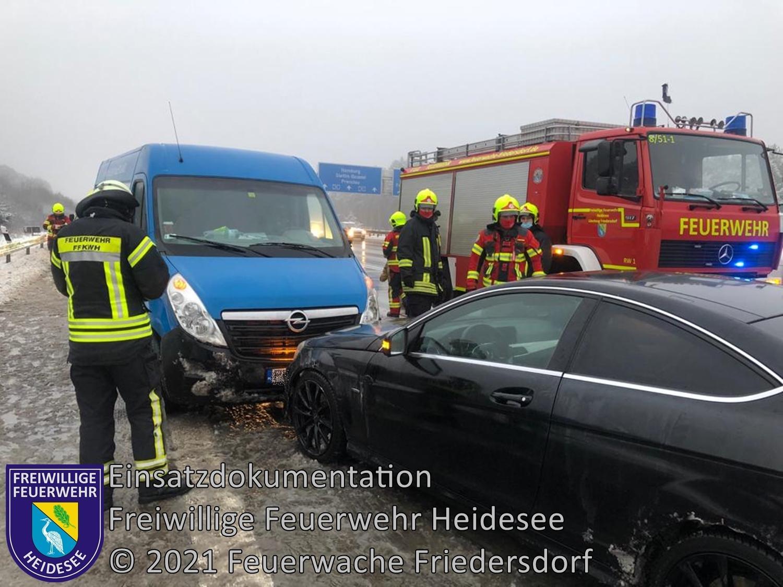 Einsatz 18/2021 | VU 2x PKW - 2x Transporter | BAB 10 AD Spreeau - AS Niederlehme | 16.02.2021