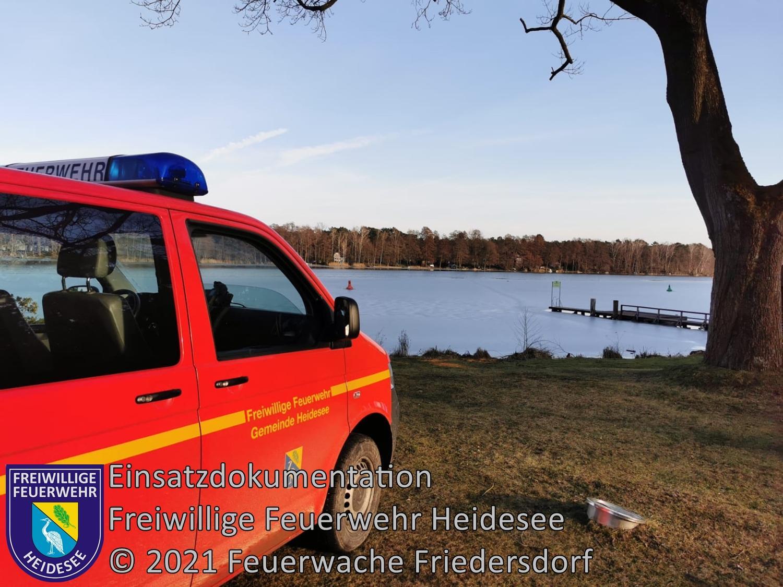 Einsatz 20/2021 | Person im Eis eingebrochen | Prieros Am Waldhaus | 20.02.2021