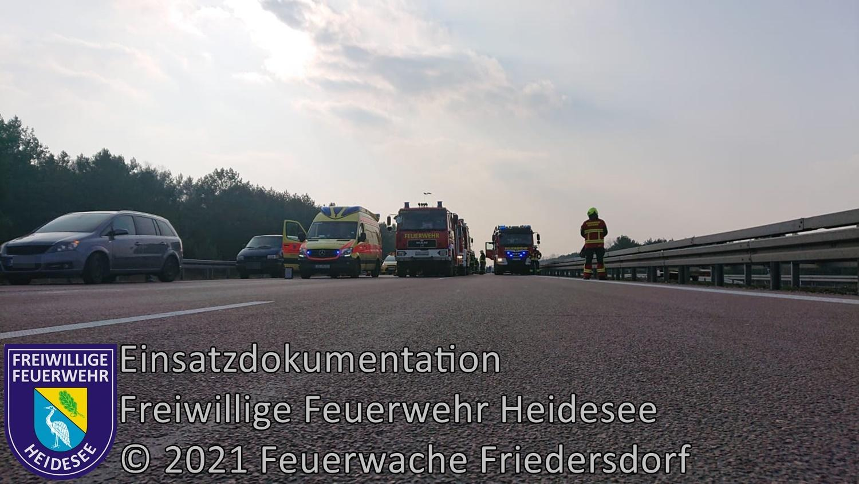 Einsatz 29/2021 | Person überfahren | BAB 12 AS Friedersdorf - AS Storkow | 24.03.2021