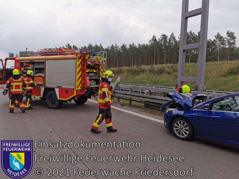 Einsatz 47/2021 | VU PKW - Transporter | BAB 12 AS Friedersdorf - AD Spreeau | 02.05.2021