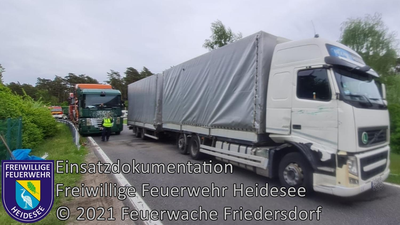 Einsatz 54/2021 | VU LKW - LKW | BAB 10 AD Spreeau - AS Niederlehme | 25.05.2021
