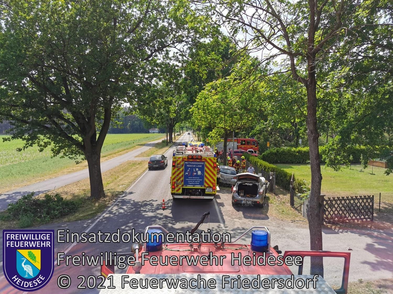 Einsatz 60/2021 | VU PKW - PKW | L 40 OV Friedersdorf - Bindow | 08.06.2021