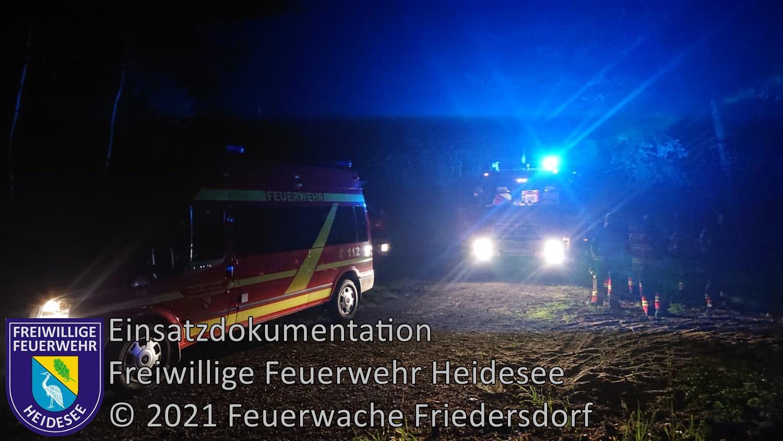 Einsatz 73/2021 | Personensuche im Waldgebiet | Friedersdorf Straße Nr.: 2 | 07.07.2021