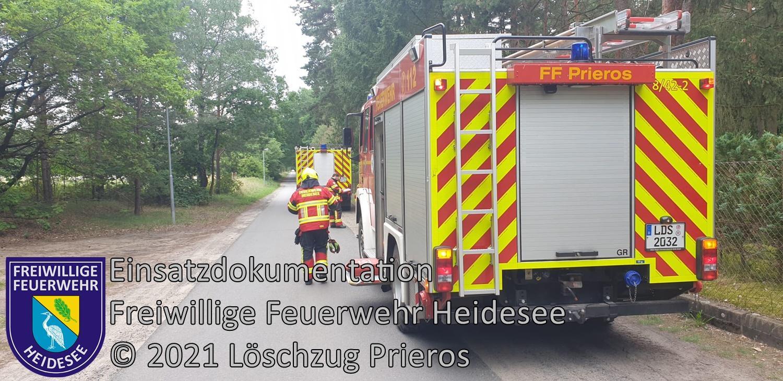 Einsatz 82/2021 | Brennendes Kabel | Prieros Münchehofer Straße | 21.07.2021