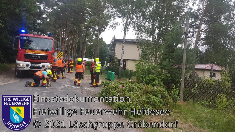 Einsatz 83/2021 | Telefonmast droht zu stürzen | Gräbendorf Am Klein Köriser See | 21.07.2021