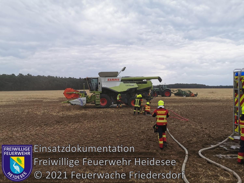 Einsatz 84/2021 | Brennt Mähdrescher | L39 OV Friedersdorf - Blossin | 22.07.2021