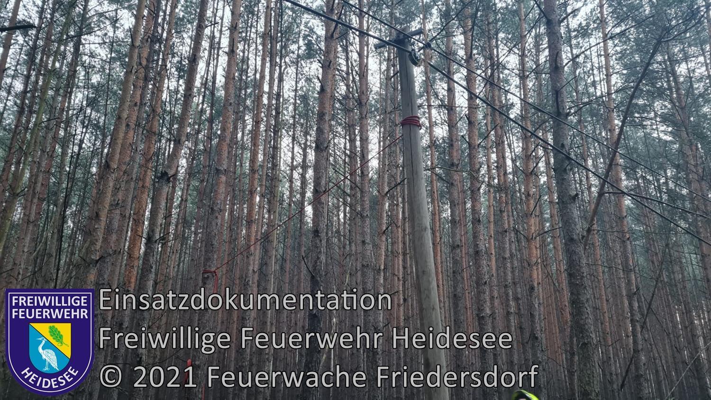 Einsatz 90/2021 | Telefonmast droht zu stürzen | Friedersdorf Fürstenwalder Straße | 26.07.2021