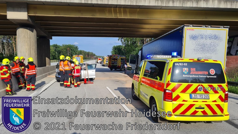 Einsatz 92/2021 | VU mehrere Fahrzeuge | BAB 12 AS Friedersdorf - AS Storkow | 27.07.2021