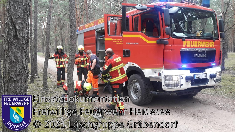 Einsatz 97/2021 | Baum in Telefonleitung | Gräbendorf Körbiskruger Straße | 01.08.2021