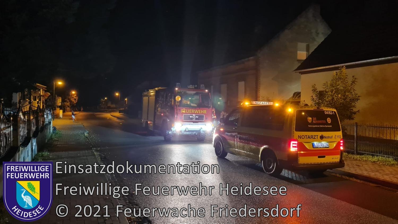 Einsatz 103/2021 | Tragehilfe für Rettungsdienst | Friedersdorf Köpenicker Straße | 11.08.2021