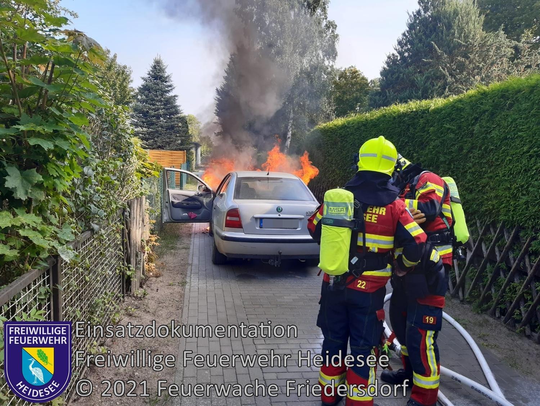 Einsatz 119/2021 | PKW Brand | Wolzig Friedersdorfer Straße | 06.09.2021