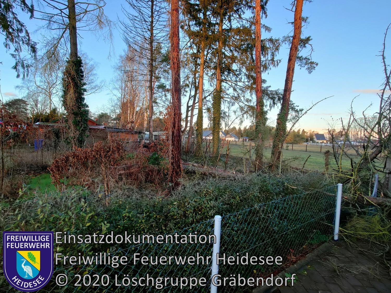 Einsatz 160/2020 | Baum auf Carport | Gräbendorf Frauenseestraße | 24.12.2020