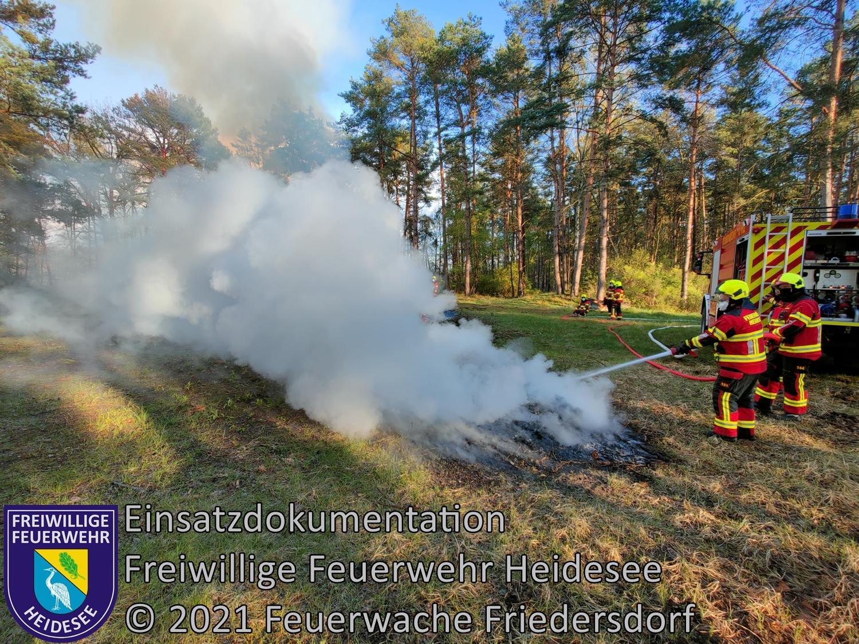 Einsatz 50/2021 | 50m² großes Lagerfeuer | Prieros Am Waldhaus | 07.05.2021