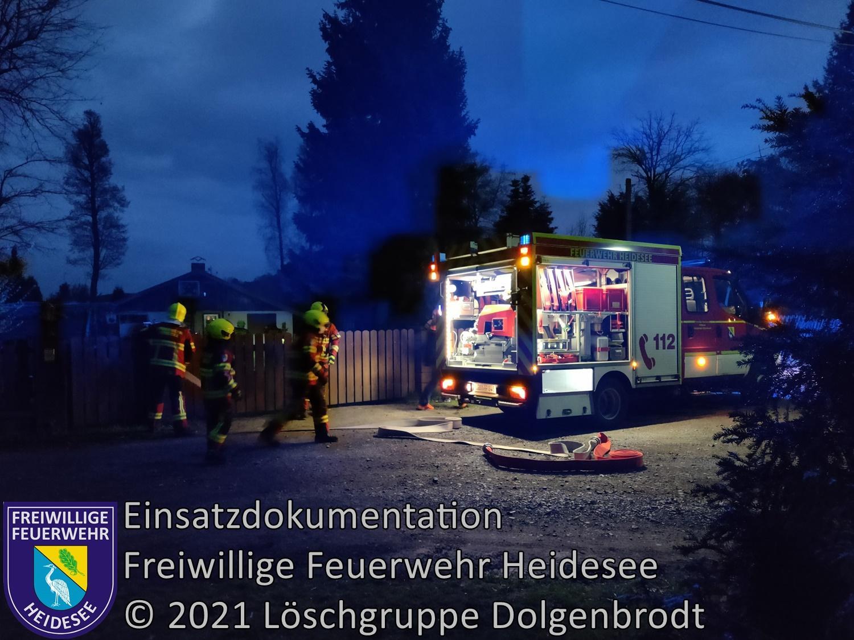 Einsatz 45/2021 | Brennt EFH > Lagerfeuer | Dolgenbrodt Fährwinkel | 30.04.2021