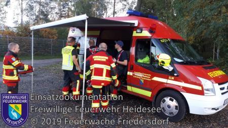 Einsatz 160/2019 | Absicherung Bombensprengung | Prieros Mühlendamm | 20.10.2019