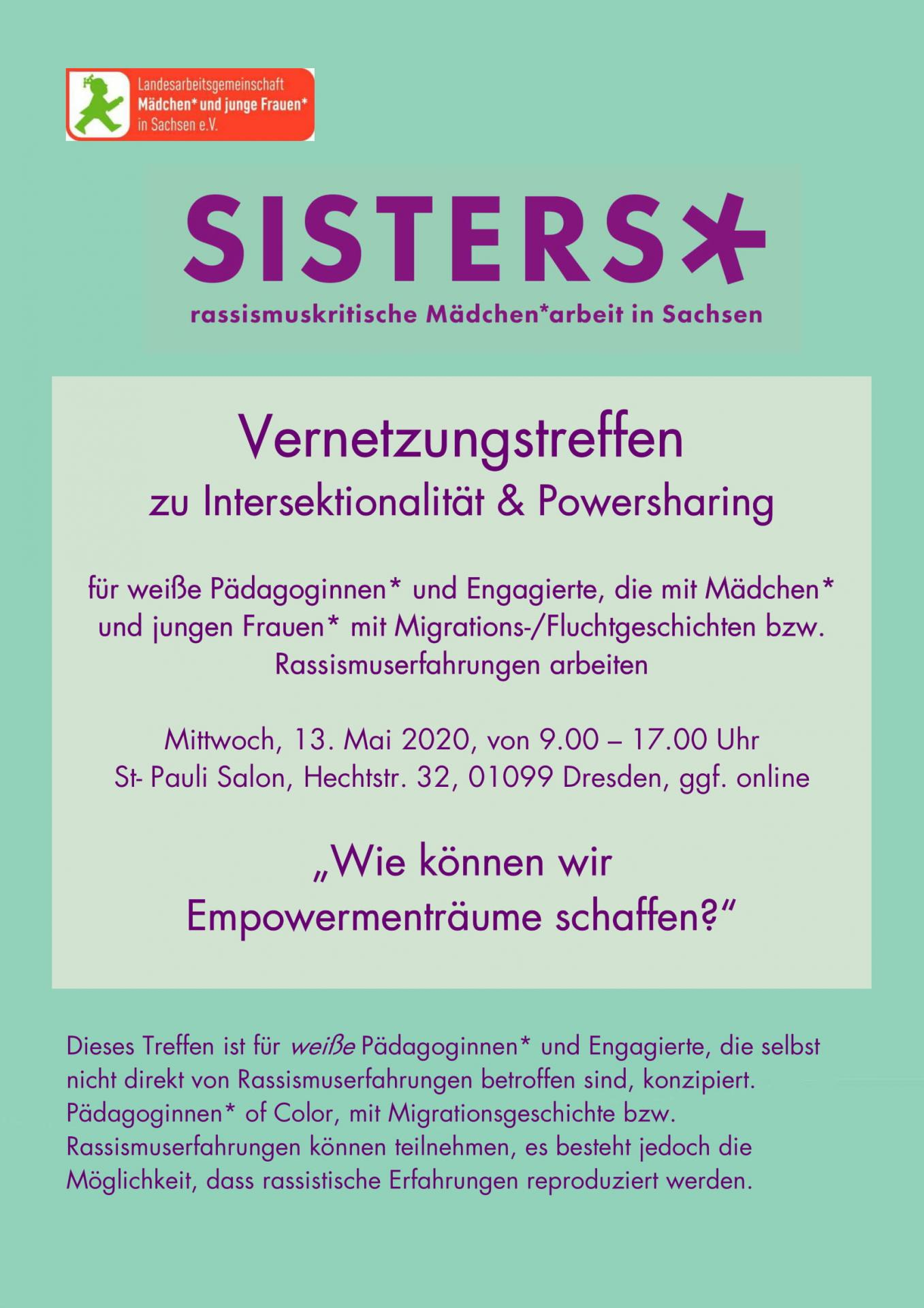 13.05. SISTERS* Flyer 1