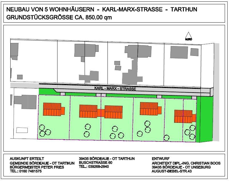 Baugebiet Tarthun K.Marx Str.