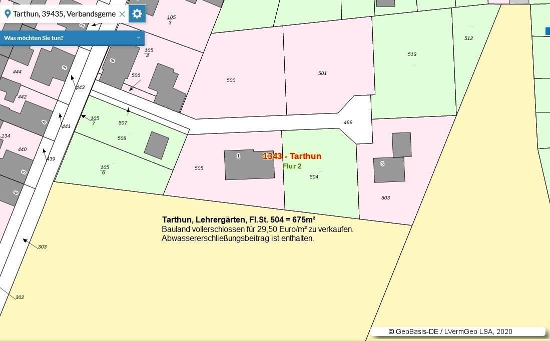 Baugrundstück in Tarthun Lehrergärten zum Verkauf