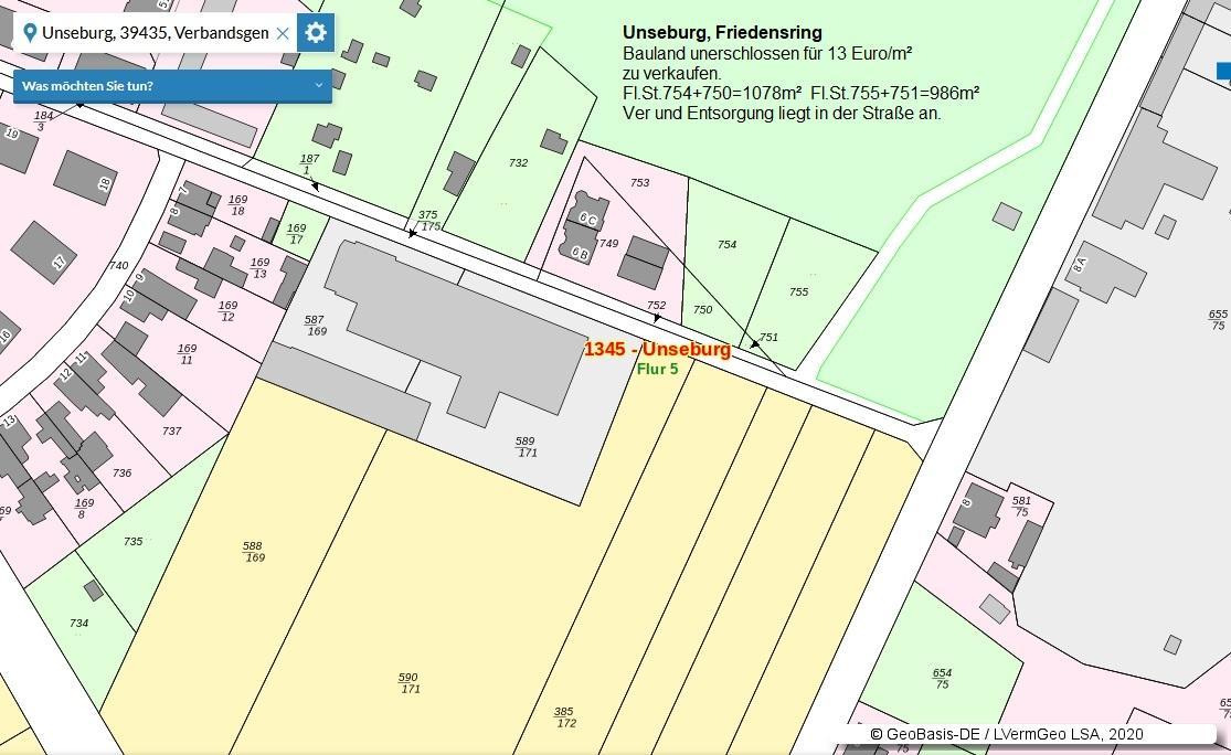 Baugrundstück in Unseburg