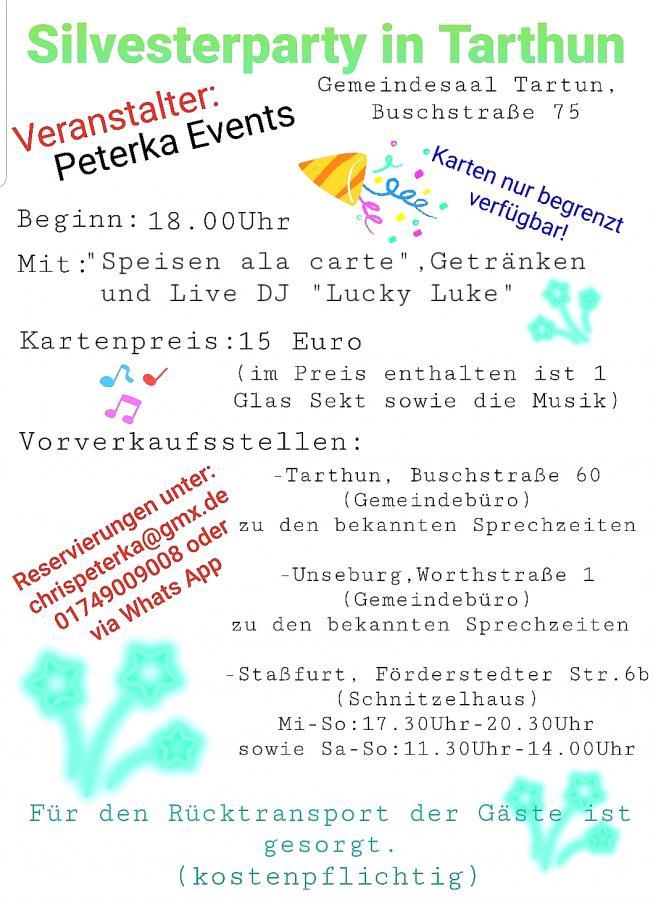 Sylvesterparty 2019 Tarthun